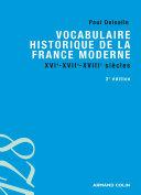 Vocabulaire historique de la France moderne