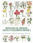 Botanical Design Adult Coloring Book  1