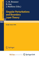 Singular Perturbations and Boundary Layer Theory