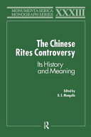 The Chinese Rites Controversy