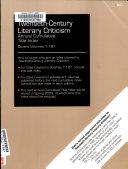 Twentieth Century Literary Criticism Annual Cumulative Title Index 2008