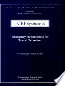 Emergency Preparedness for Transit Terrorism Book