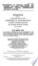 107 2 Senate Hearings  Departments of Veterans Affairs and Housing and Urban Etc   S  Hrg  107 904  March 25  2002
