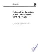 Criminal Victimization In The United States Trends