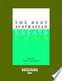 The Best Australian Essays 2009 Book