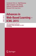 Advances in Web Based Learning    ICWL 2015