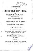 Mathews s New Budget of Fun  etc Book