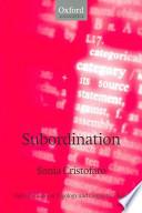 Subordination
