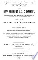 History of the 116th Regiment U S C  Infantry Book