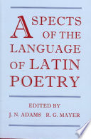 Aspects of the Language of Latin Poetry