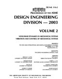 Proceedings Of The Asme Design Engineering Division 2003 Book PDF