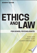 Ethics and Law for School Psychologists Book