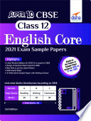 Super 10 CBSE Class 12 English Core 2021 Exam Sample Papers 3rd Edition