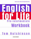 English for Life  Pre intermediate  Workbook without Key