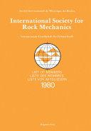 Pdf International Society for Rock Mechanics Telecharger