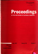 The Proceedings of the Institution of Electrical Engineers Book