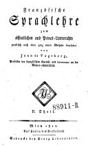 Französische Sprachlehre (etc.)