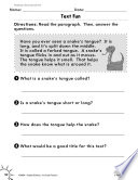 Reading Informational Text Short Texts Practice