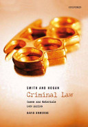 Smith and Hogan Criminal Law  Cases and Materials