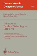 Advances in Database Technology   EDBT  94