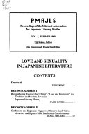 Proceedings of the Midwest Association for Japanese Literary Studies Book