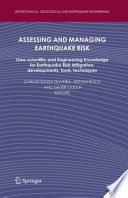 Assessing and Managing Earthquake Risk Book