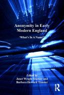 Anonymity in Early Modern England [Pdf/ePub] eBook