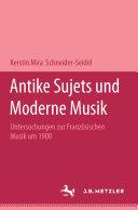 Pdf Antike Sujets und moderne Musik Telecharger