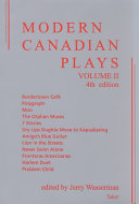 Pdf Modern Canadian Plays