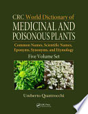 CRC World Dictionary of Medicinal and Poisonous Plants Book