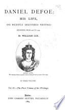 Daniel Defoe The First Volume Of His Writings