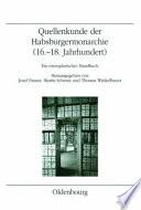 Quellenkunde der Habsburgermonarchie (16.-18. Jahrhundert)