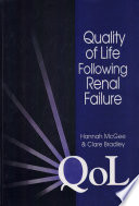 Quality of Life Following Renal Failure Book