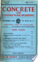 Concrete and Constructional Engineering