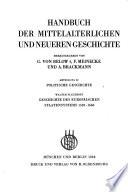 Geschichte des europäischen Staatensystems 1559-1660