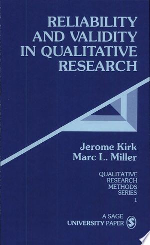 Download Reliability and Validity in Qualitative Research Free Books - Read Books