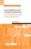 Law Legitimacy And European Governance