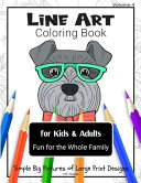 Line Art Coloring Book for Kids   Adults  Volume 4