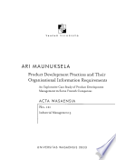 Product Development Practices and Their Organisational Information Requirements