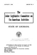 Activities Of The Nation Of Islam Or The Muslim Cult Of Islam In Louisiana