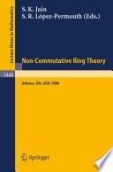Non-Commutative Ring Theory