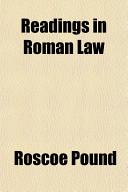 Readings in Roman Law