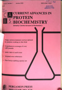 Current Advances in Protein Biochemistry