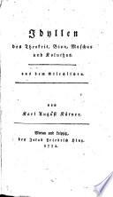 Idyllen des Theokrit, Bion, Moschus und Koluthus