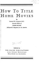 How to Title Home Movies