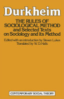 Pdf The Rules of Sociological Method