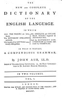 The New and Complete Dictionary of the English Language ebook