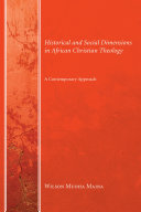 Historical and Social Dimensions in African Christian Theology Pdf/ePub eBook