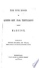Ante Nicene Christian Library Book