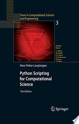 Book cover of 'Python Scripting for Computational Science' by Hans Petter Langtangen